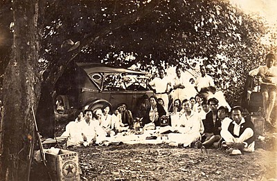 P22145. Chinese National Club Picnic at Jungarra Freshwater Creek, 10 August 1930
