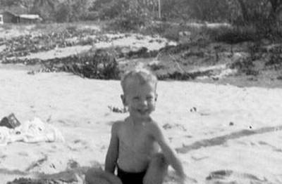 P14303 Small boy at Trinity Beach, 1951